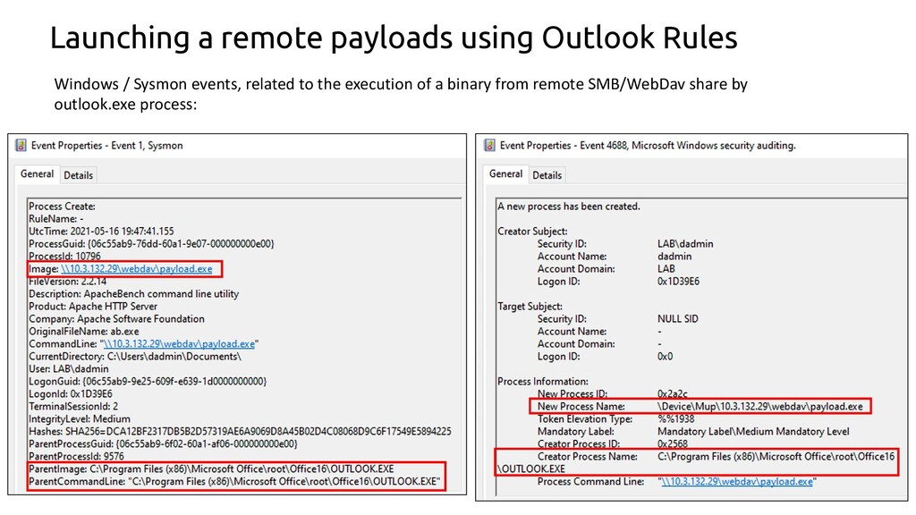 50 Launching a remote payloads using Outlook Ru...