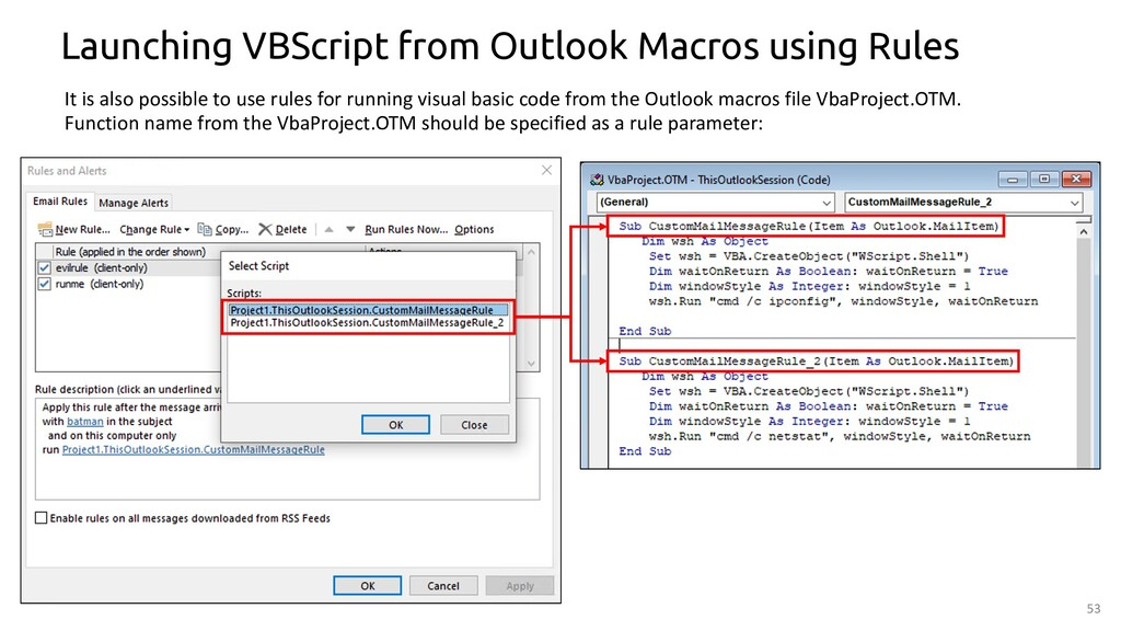 53 Launching VBScript from Outlook Macros using...