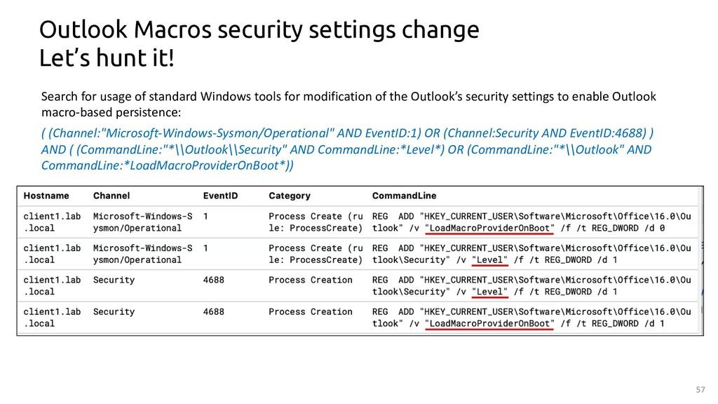 57 Outlook Macros security settings change Let'...
