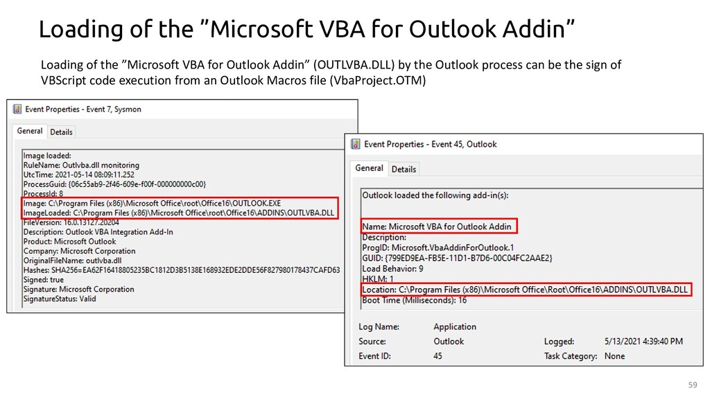 """59 Loading of the """"Microsoft VBA for Outlook Ad..."""