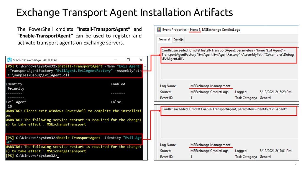 7 Exchange Transport Agent Installation Artifac...