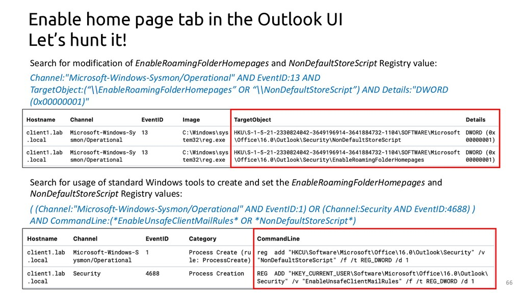66 Enable home page tab in the Outlook UI Let's...