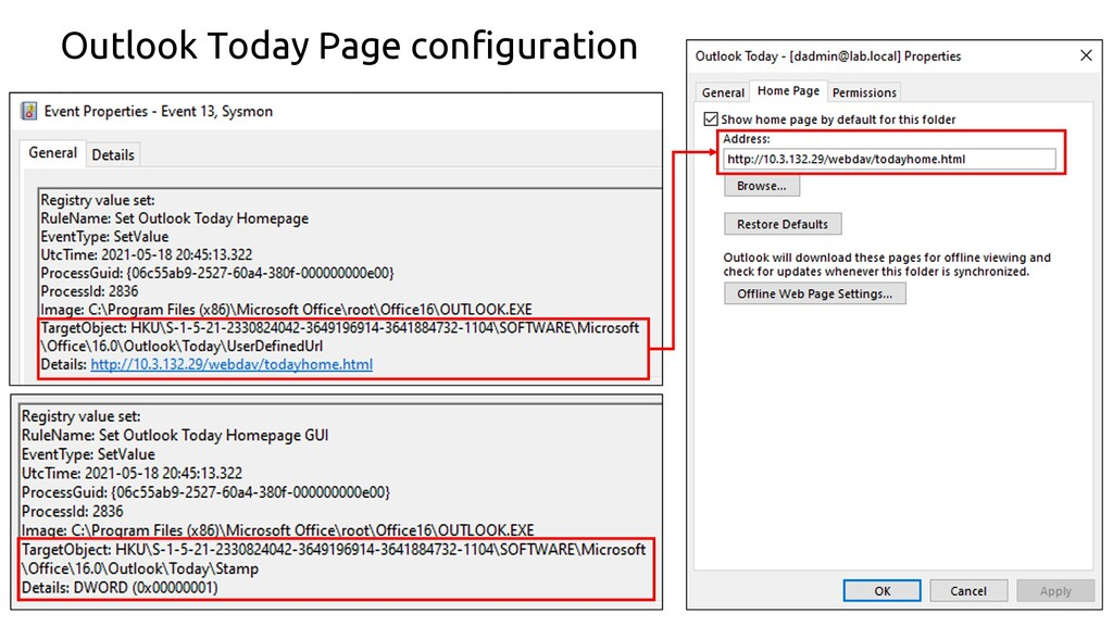 74 Outlook Today Page configuration
