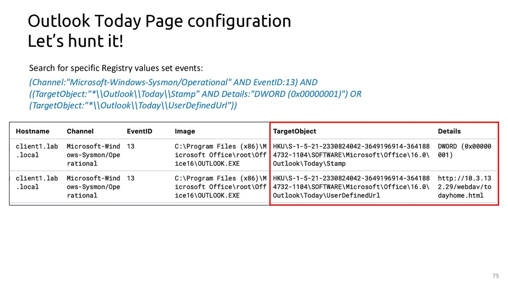75 Outlook Today Page configuration Let's hunt ...