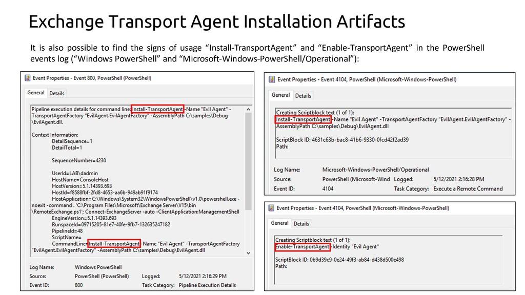 10 Exchange Transport Agent Installation Artifa...