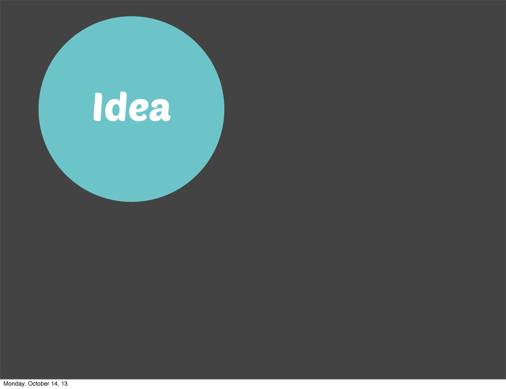 Idea Monday, October 14, 13