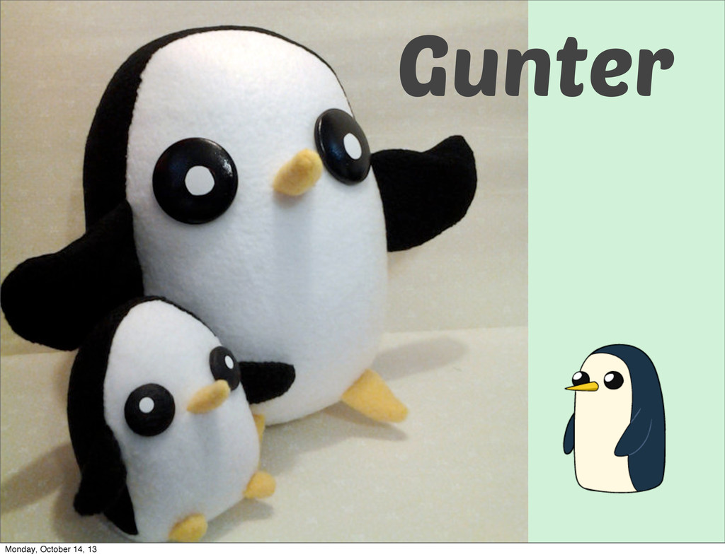 Gunter Monday, October 14, 13