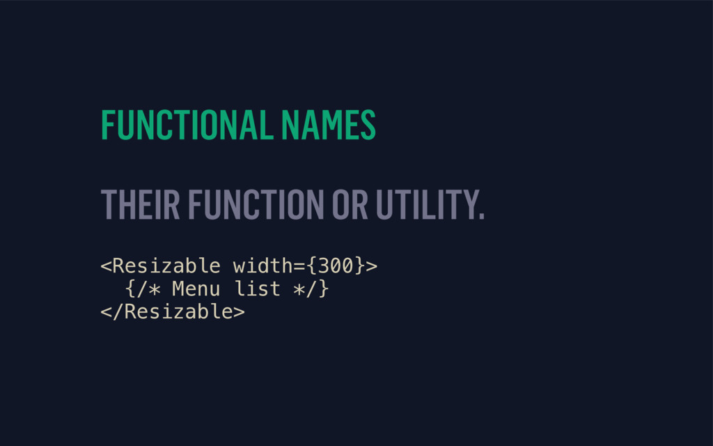 FUNCTIONAL NAMES THEIR FUNCTION OR UTILITY. <Re...