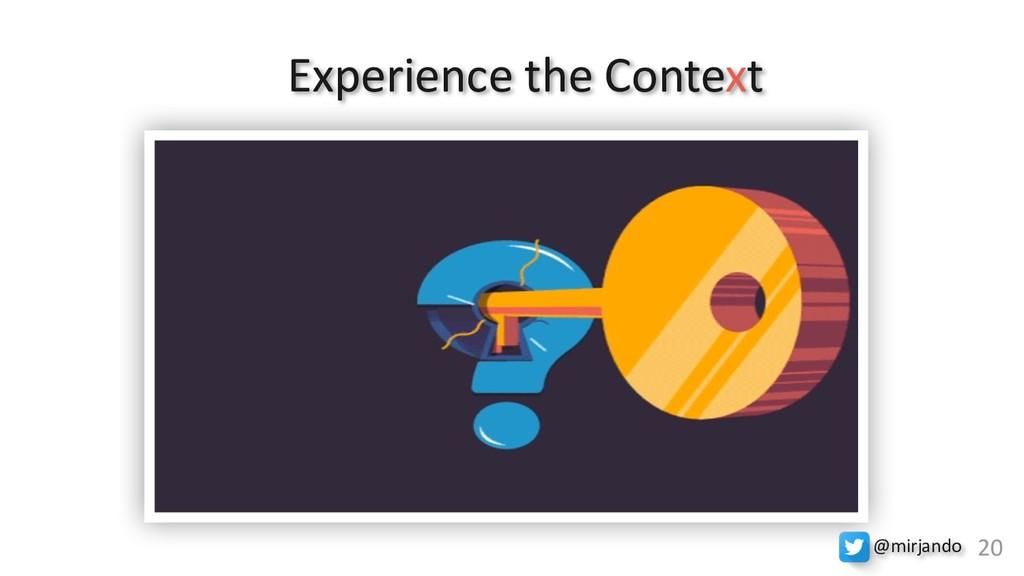 Experience the Context M20 @mirjando