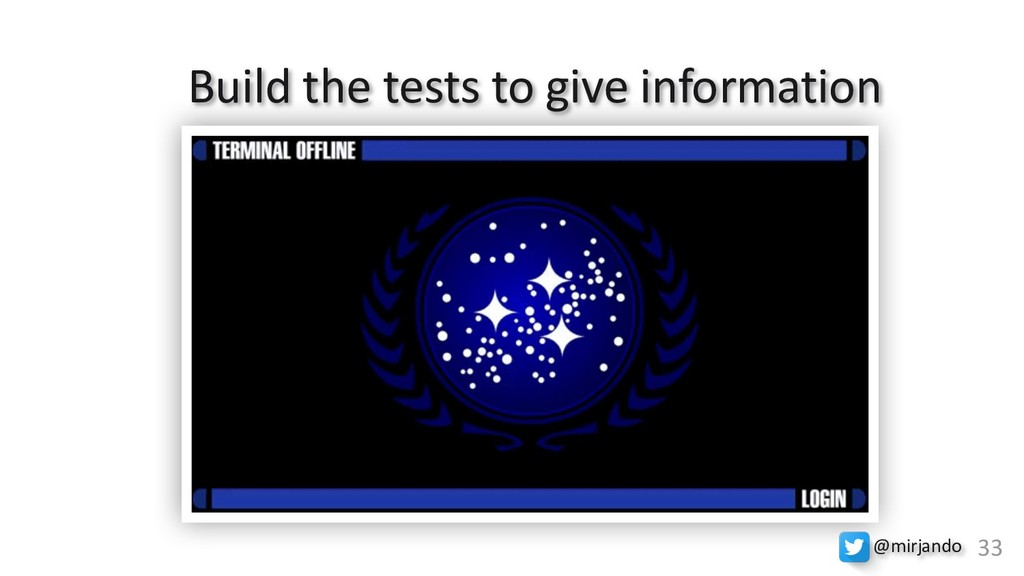 M33 Build the tests to give information @mirjan...
