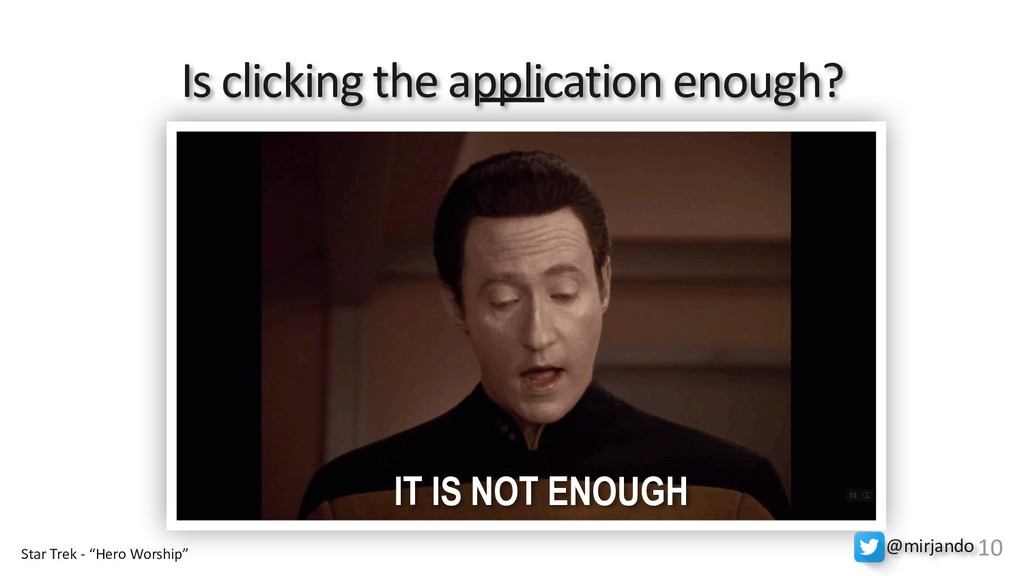 Is clicking the application enough? IT IS NOT E...