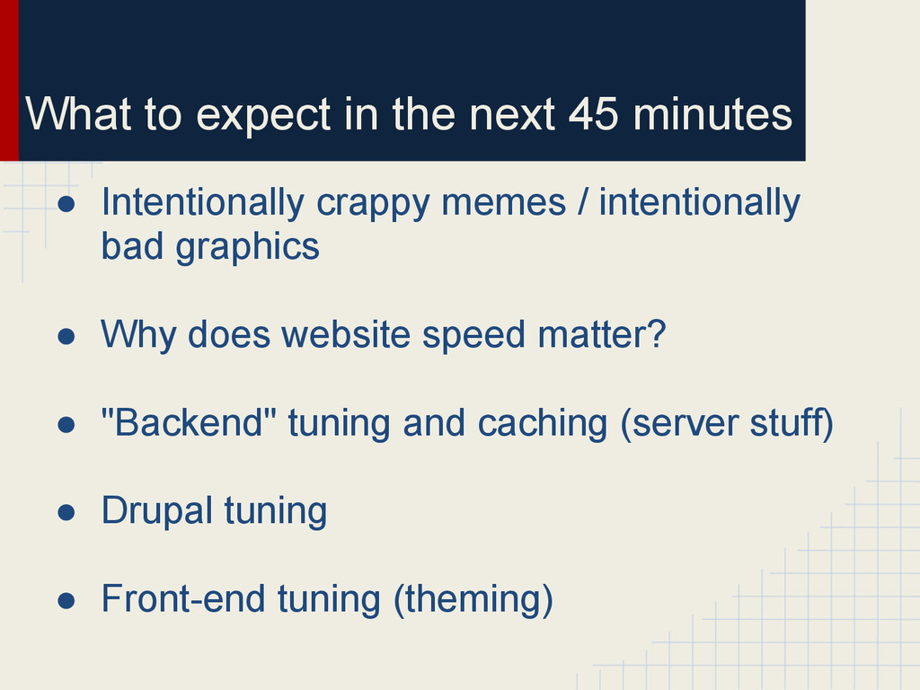 What to expect in the next 45 minutes ● Intenti...