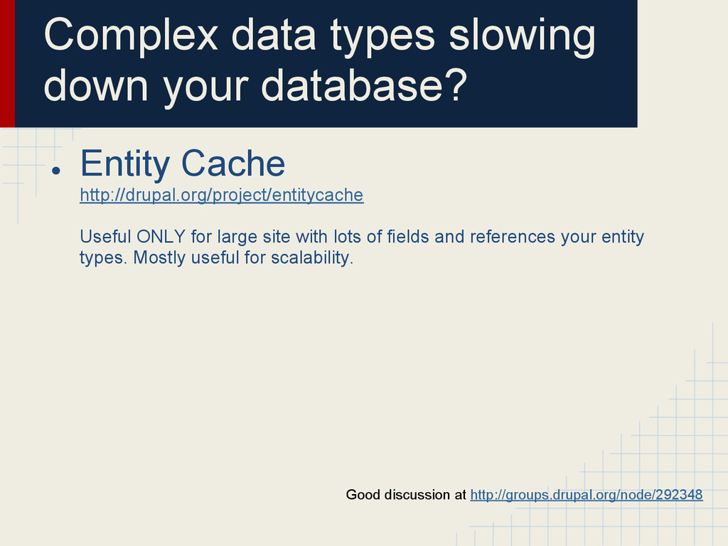 Complex data types slowing down your database? ...