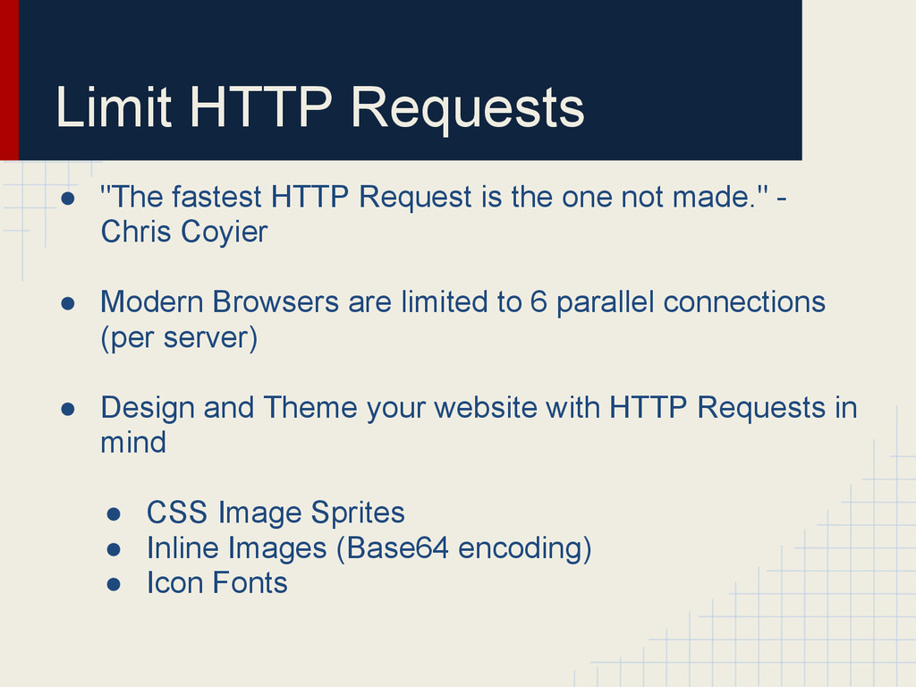 "Limit HTTP Requests ● ""The fastest HTTP Request..."
