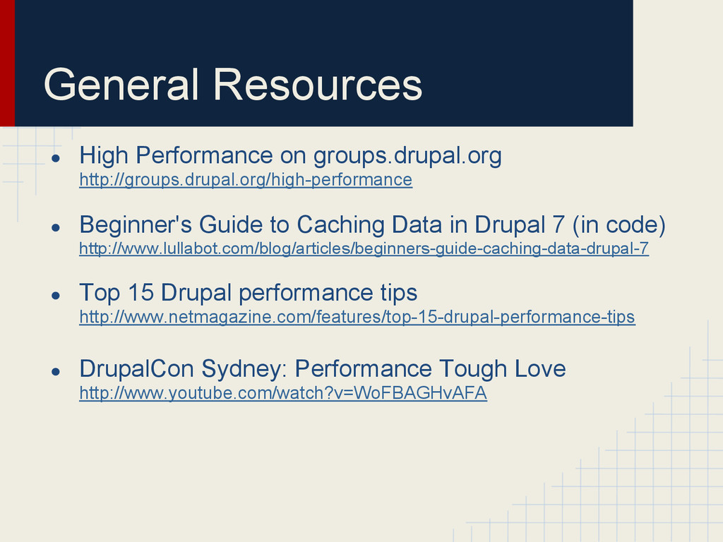 General Resources ● High Performance on groups....