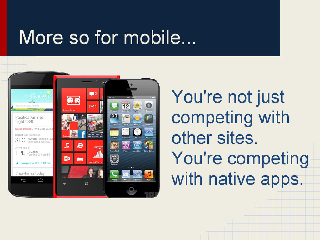 More so for mobile... You're not just competing...