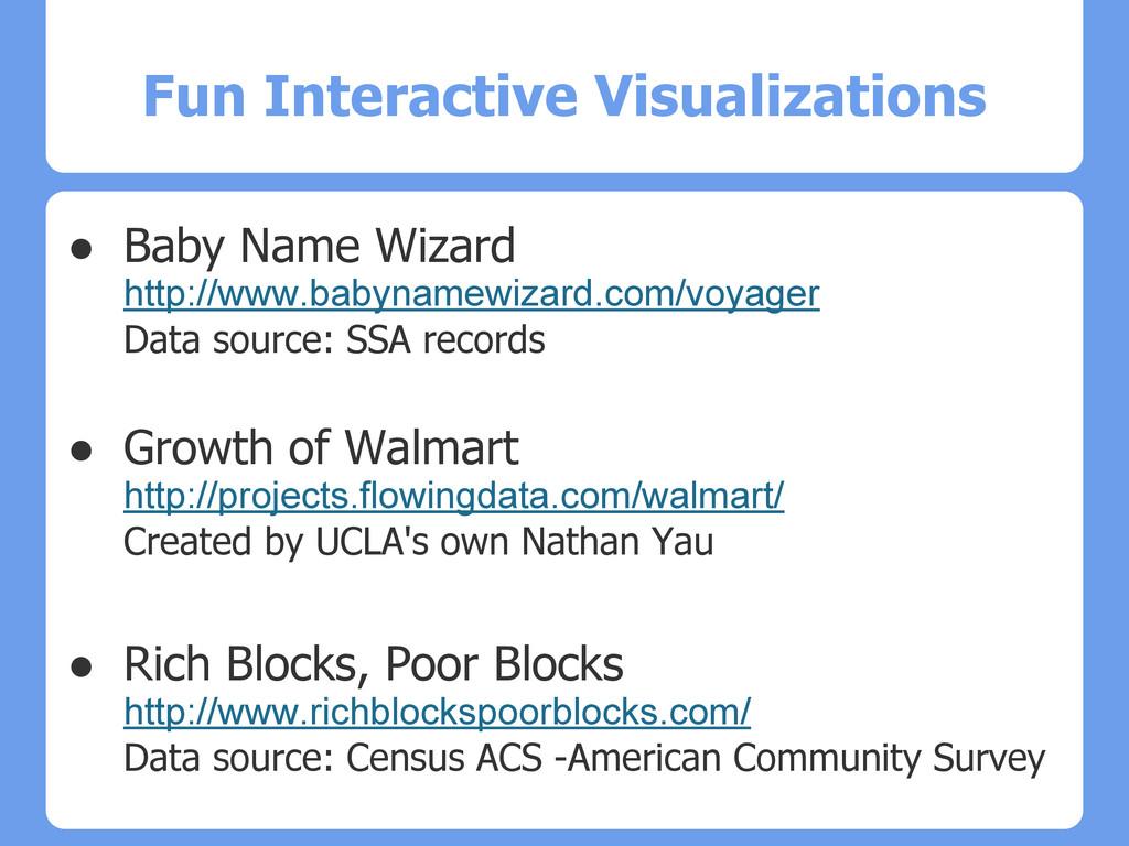 Fun Interactive Visualizations ● Baby Name Wiza...