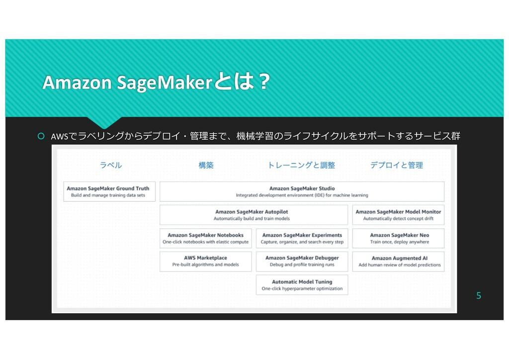 Amazon SageMakerとは︖ š AWSでラベリングからデプロイ・管理まで、機械学習...
