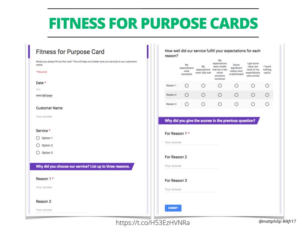 @mattphilip #lkfr17 FITNESS FOR PURPOSE CARDS h...