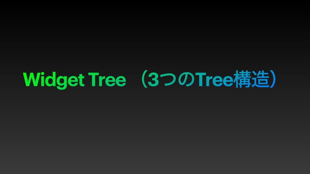 Widget Tree ʢ3ͭͷTreeߏʣ