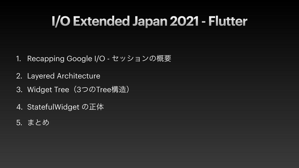 I/O Extended Japan 2021 - Flutter 1. Recapping ...