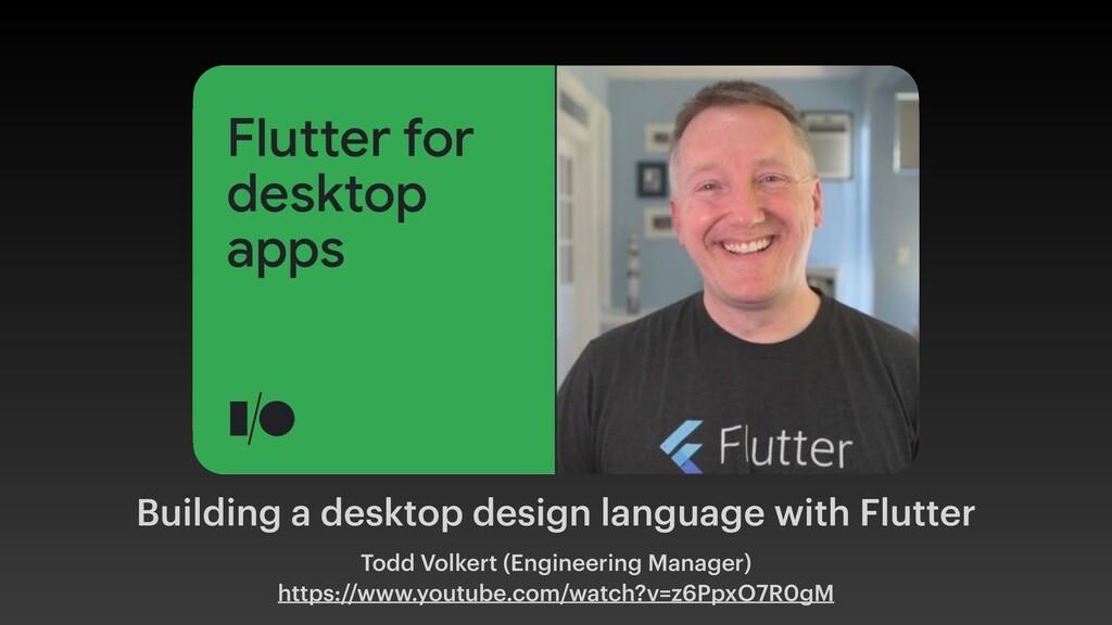 Building a desktop design language with Flutter...