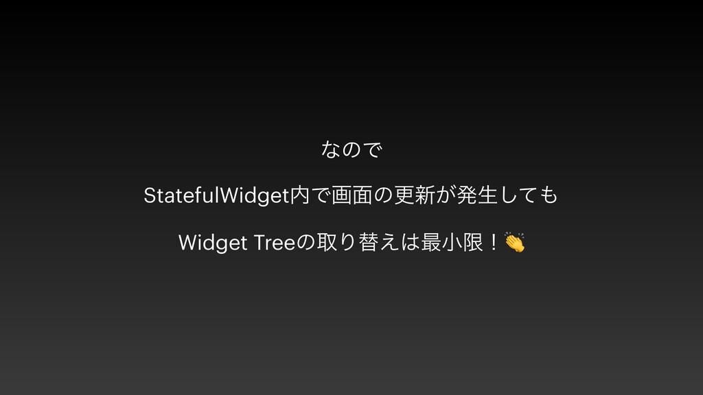 ͳͷͰ   StatefulWidgetͰը໘ͷߋ৽͕ൃੜͯ͠   Widget Tree...