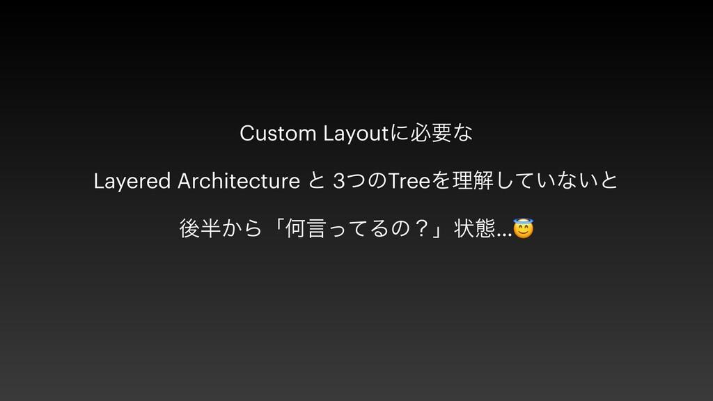 Custom Layoutʹඞཁͳ   Layered Architecture ͱ 3ͭͷT...