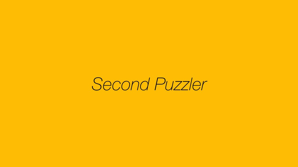 Second Puzzler