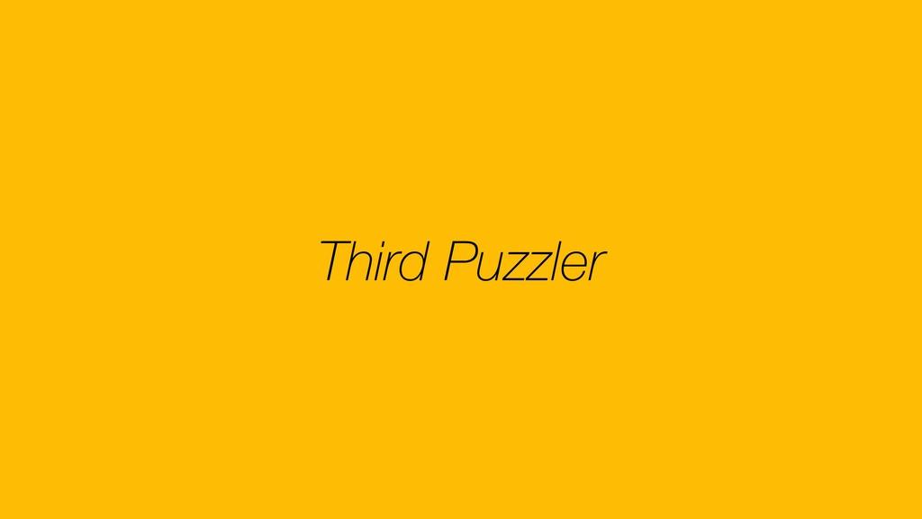 Third Puzzler