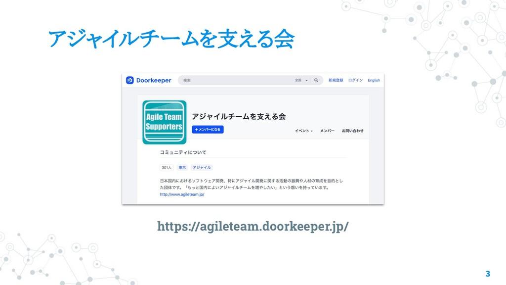 アジャイルチームを支える会 3 https://agileteam.doorkeeper.jp/