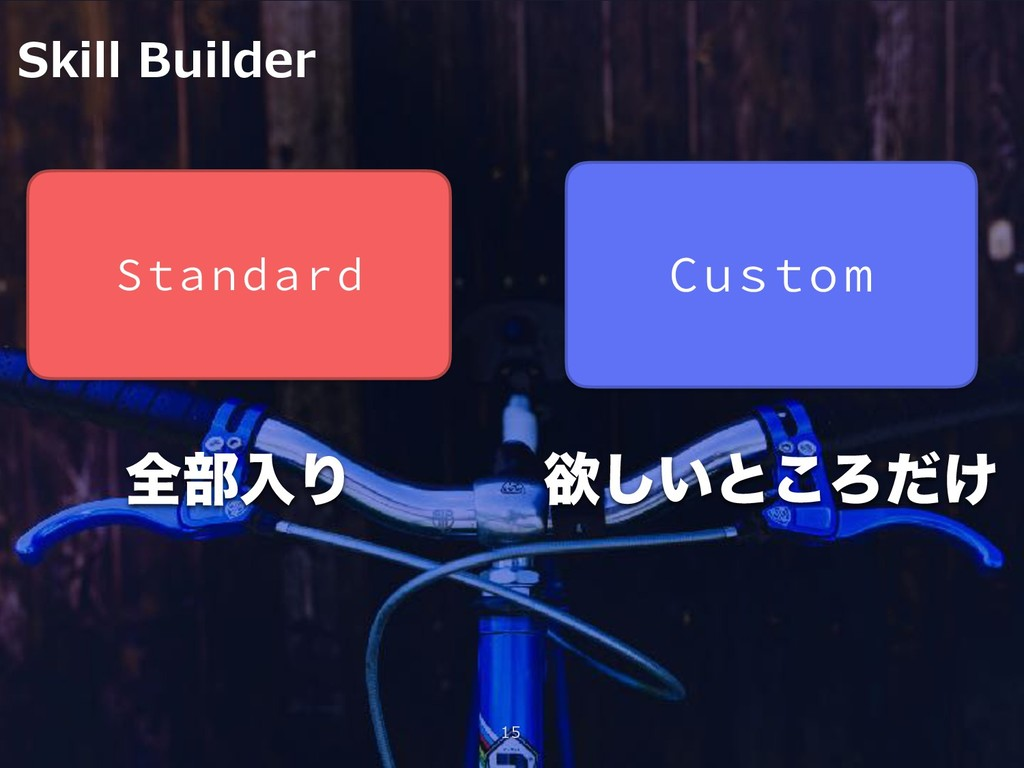 Skill Builder 15 Standard Custom શ෦ೖΓ ཉ͍͠ͱ͜Ζ͚ͩ