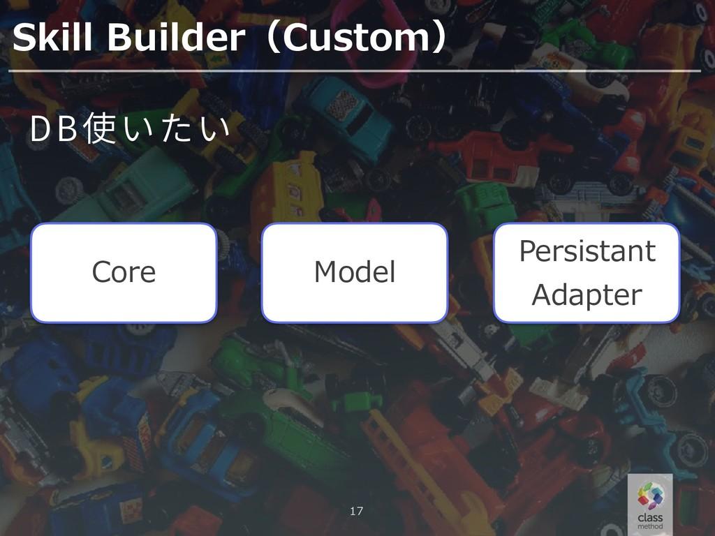 17 Skill Builder(Custom) Core DB Model Persista...