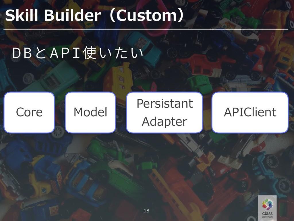 18 Skill Builder(Custom) Core DB API Model Pers...