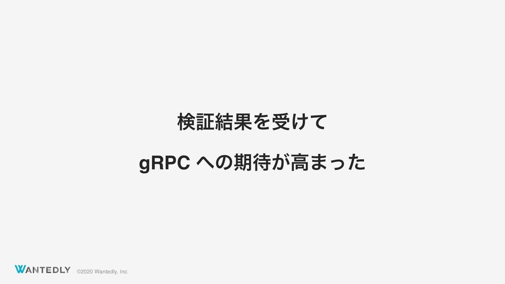 ©2020 Wantedly, Inc. ݕূ݁ՌΛड͚ͯ gRPC ͷظ͕ߴ·ͬͨ