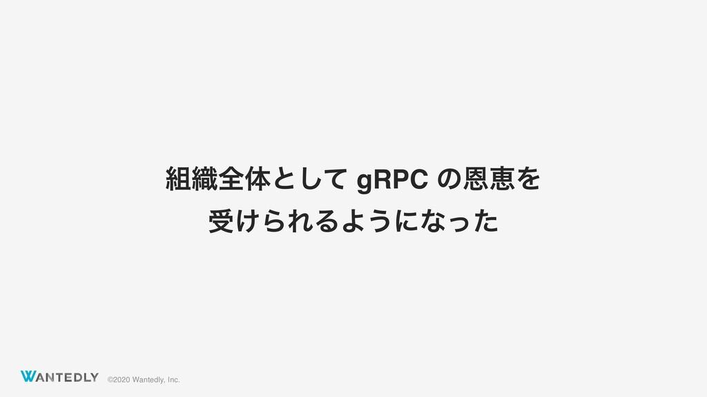 ©2020 Wantedly, Inc. ৫શମͱͯ͠ gRPC ͷԸܙΛ ड͚ΒΕΔΑ͏ʹ...