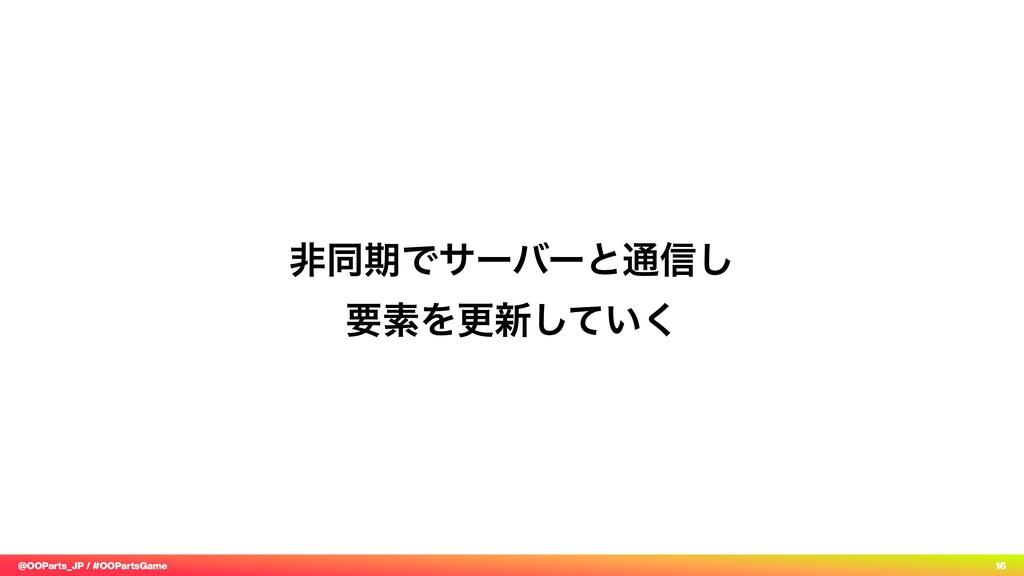 @OOParts_JP / #OOPartsGame 16 ඇಉظͰαʔόʔͱ௨৴͠ ཁૉΛ...