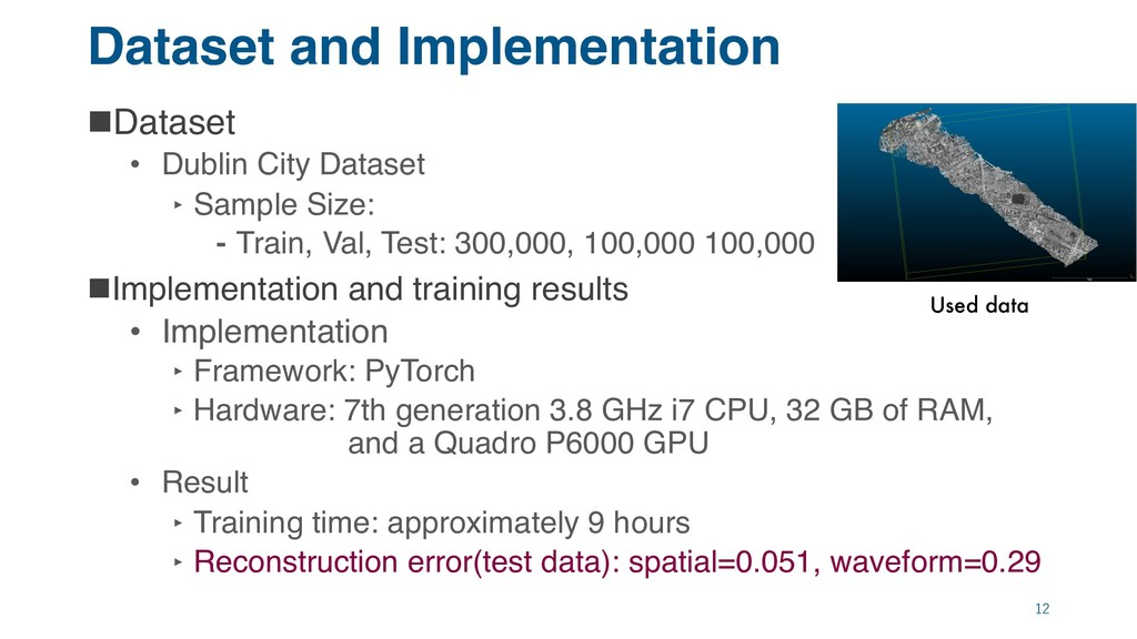 Dataset and Implementation nDataset • Dublin Ci...