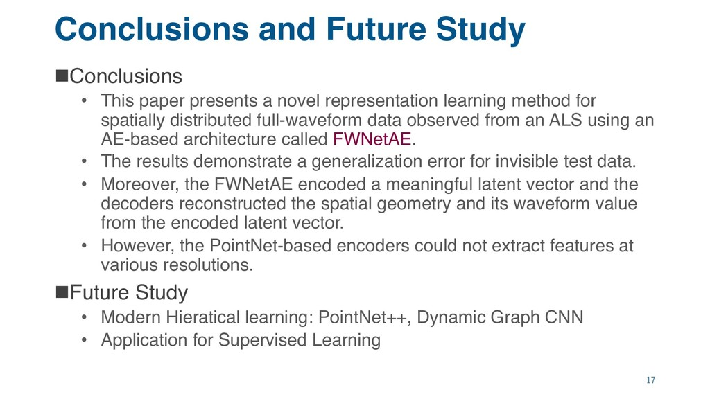 Conclusions and Future Study nConclusions • Thi...