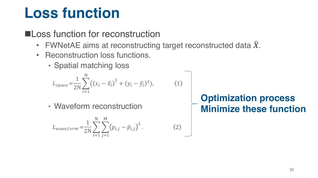Loss function nLoss function for reconstruction...