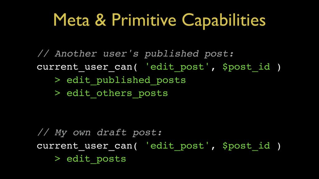 Meta & Primitive Capabilities // Another user's...