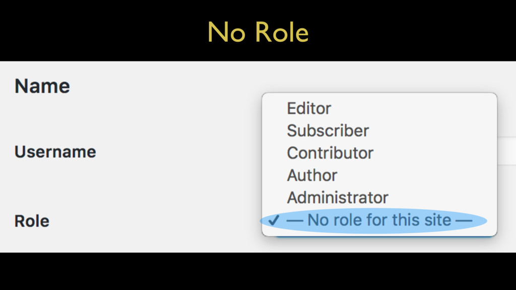 No Role