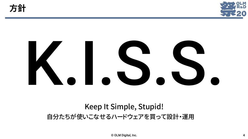 方針 Keep It Simple, Stupid! © OLM Digital, Inc. ...