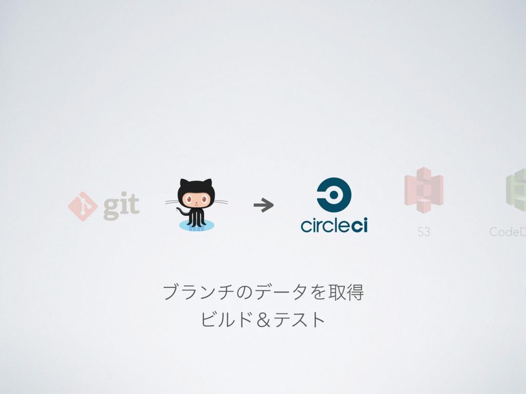 CodeD S3 ϒϥϯνͷσʔλΛऔಘ Ϗϧυˍςετ