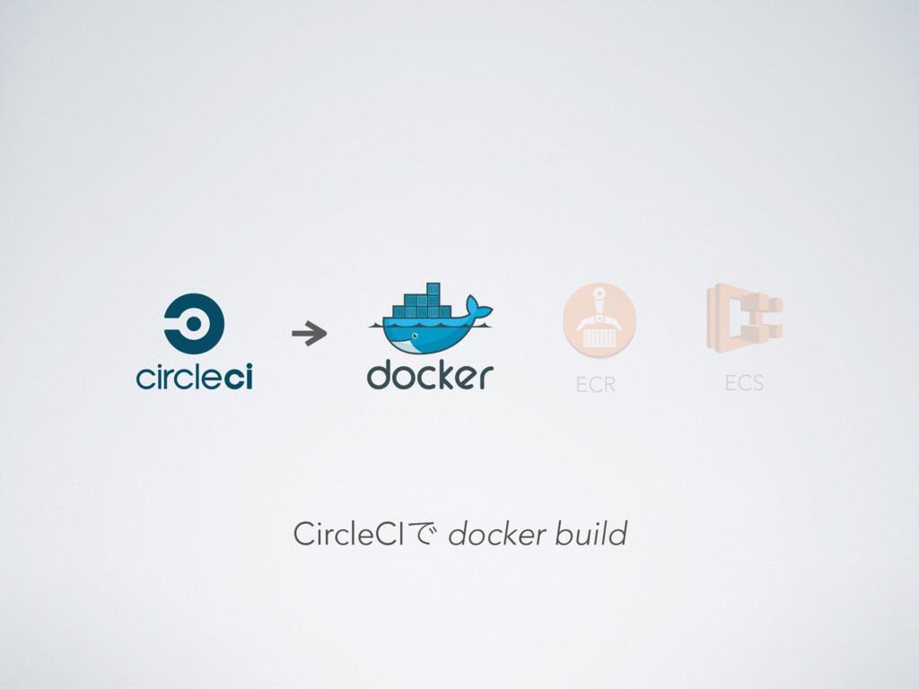 ECR CircleCIͰ docker build ECS