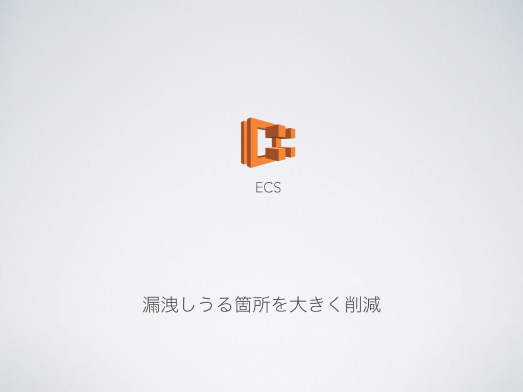 ࿙Ӯ͠͏ΔՕॴΛେ͖͘ݮ ECS