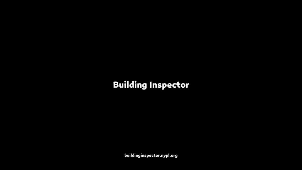 Building Inspector buildinginspector.nypl.org
