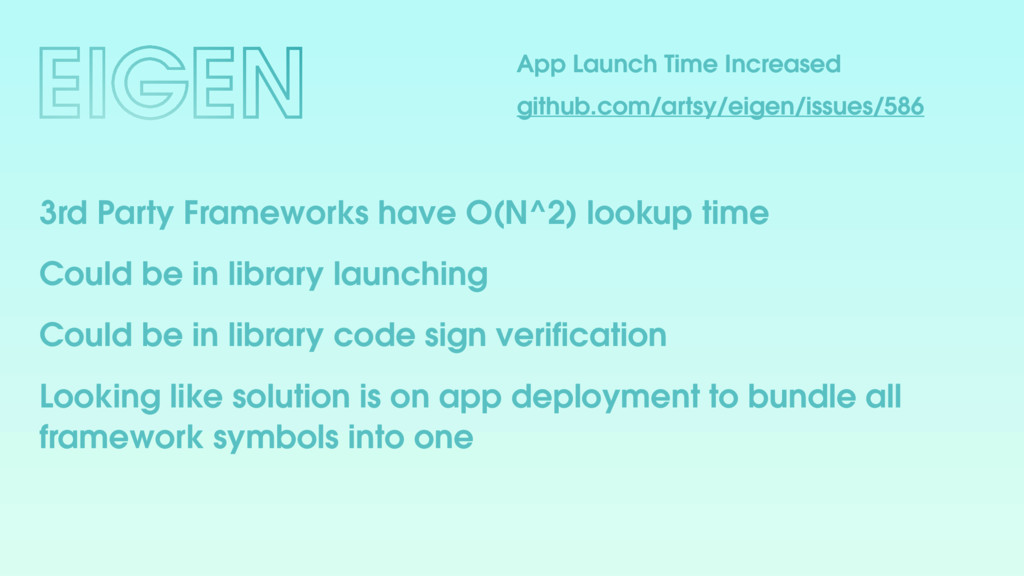 App Launch Time Increased github.com/artsy/eige...