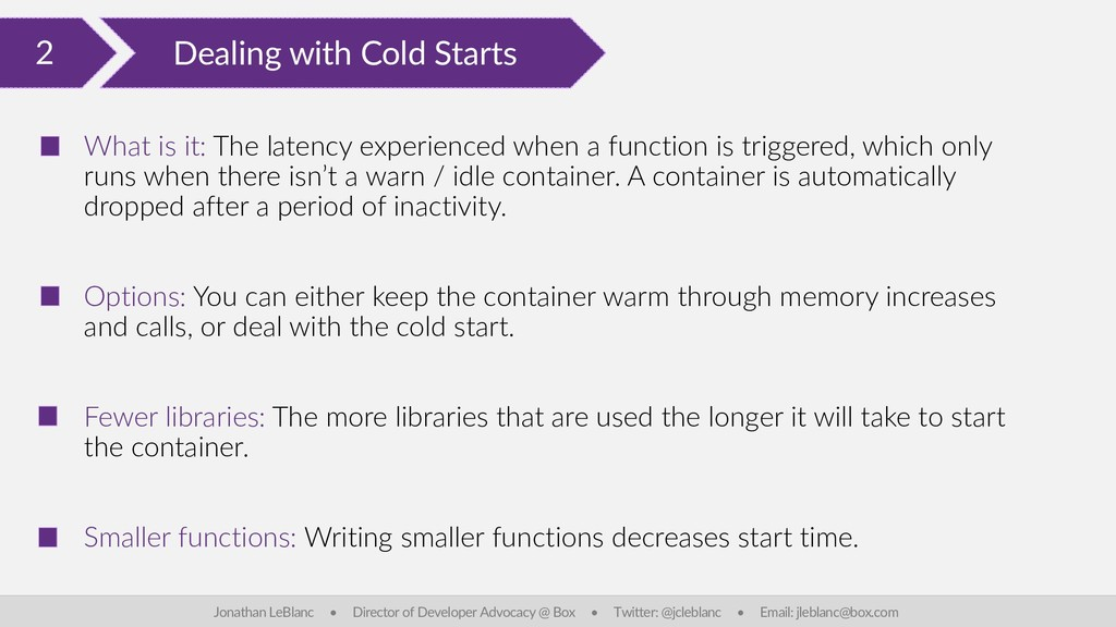 2 Dealing with Cold Starts Jonathan LeBlanc • D...